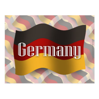 Germany Waving Flag Postcard