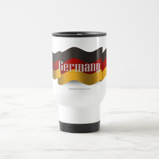 Germany Waving Flag Travel Mug