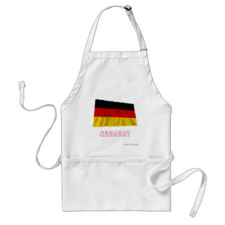 Germany Waving Flag with Name Adult Apron
