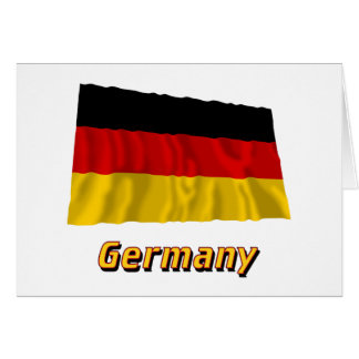 Germany Waving Flag with Name Card