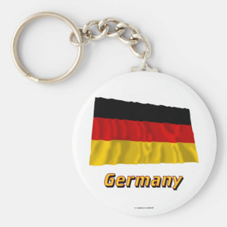 Germany Waving Flag with Name Keychains