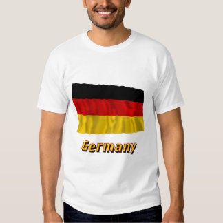 Germany Waving Flag with Name Shirt
