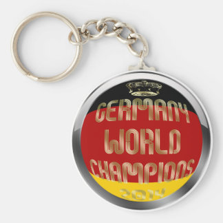 Germany World Champions 2014 Soccer Basic Round Button Keychain