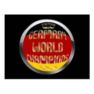 Germany World Champions 2014 Soccer Postcards