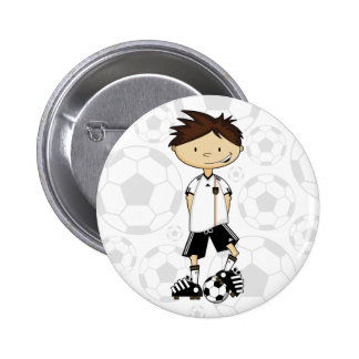 Germany World Cup Soccer Boy Button