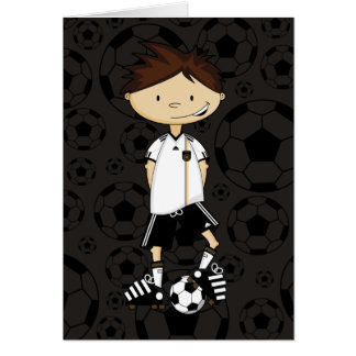 Germany World Cup Soccer Boy Card
