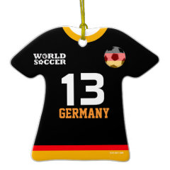 Germany World Cup Soccer Jersey Ornament ornament