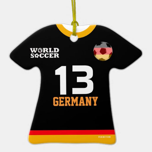 Germany world cup soccer jersey ornament zazzle for Germany mercedes benz soccer jersey