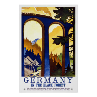 Germany's Black Forest Vintage Travel Poster