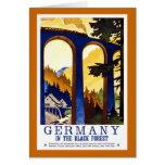 Germany's Black Forest Vintage Travel Poster Card