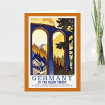 Germany's Black Forest Vintage Travel Poster Holiday Card