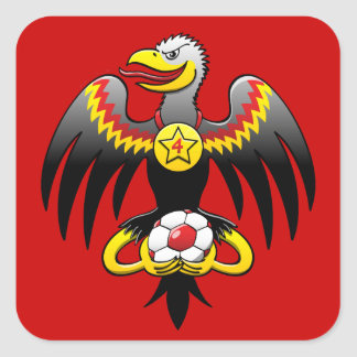 Germany's Eagle Soccer Champion Square Sticker