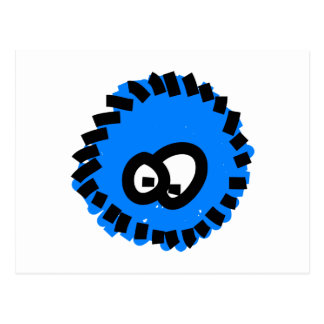 Germen mullido azul postales