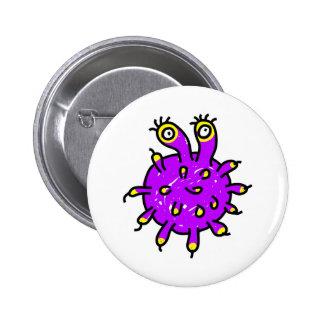 Germen púrpura pin redondo 5 cm