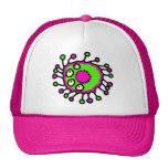 Germen verde y rosado del dibujo animado gorra