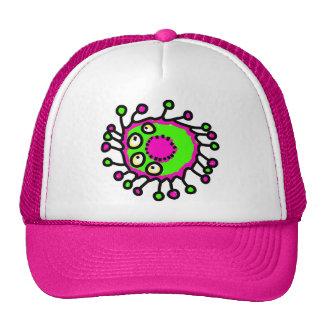 Germen verde y rosado del dibujo animado gorro