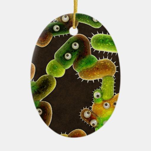 Gérmenes preciosos - adorno navideño ovalado de cerámica