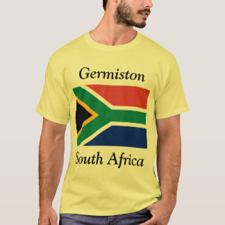 Germiston, South Africa with South African Flag T-Shirt