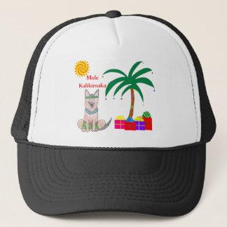 Germman Shepherd Dog Hawaiian Christmas Trucker Hat