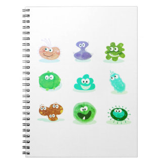 Germs designers Block edition / Green Spiral Notebook