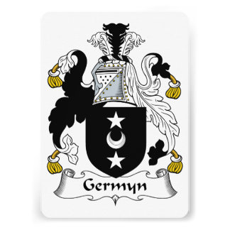 Germyn Family Crest Personalized Announcement