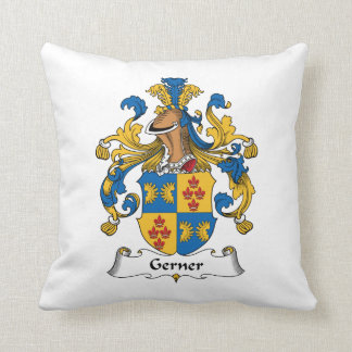 Gerner Family Crest Throw Pillow