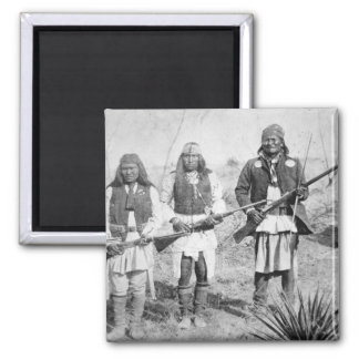 Geronimo and three of his Apache warriors, 1886 (b Magnet
