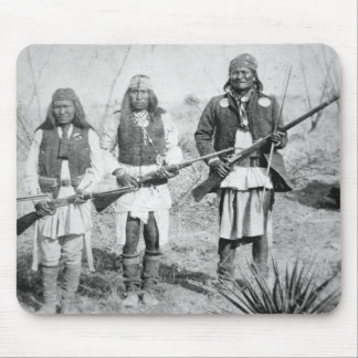 Geronimo and three of his Apache warriors, 1886 (b Mouse Pad