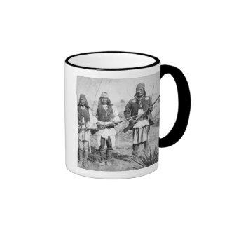 Geronimo and three of his Apache warriors, 1886 (b Mugs