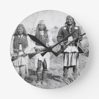 Geronimo and three of his Apache warriors, 1886 (b Round Clock