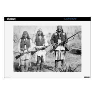 "Geronimo and three of his Apache warriors 1886 b 15"" Laptop Skin"
