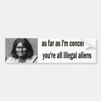 geronimo bumper sticker