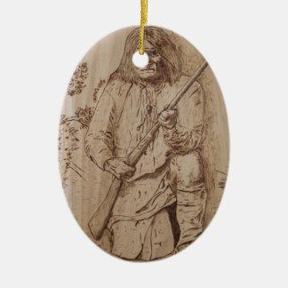Geronimo Ceramic Ornament