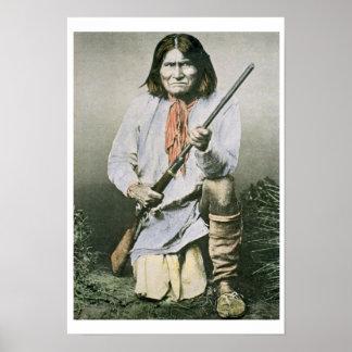 Geronimo (coloured photo) poster