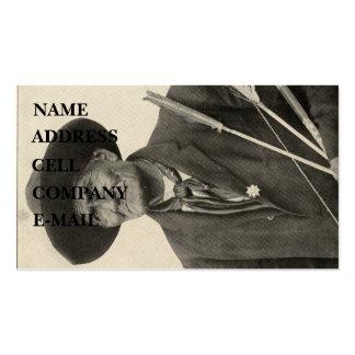 'Geronimo con las flechas Plantilla De Tarjeta De Negocio