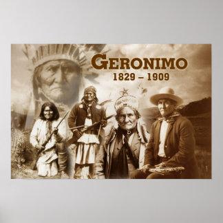 Geronimo del Chiricahua apache Poster
