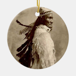 'GERONIMO!' Double-Sided CERAMIC ROUND CHRISTMAS ORNAMENT