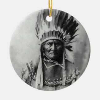 Geronimo Double-Sided Ceramic Round Christmas Ornament
