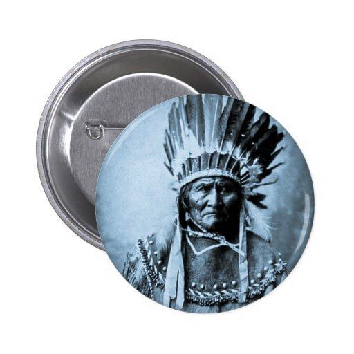 Geronimo en el vintage principal del vestido ciáni pin