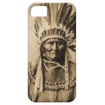 Geronimo en la sepia principal del retrato del vin iPhone 5 Case-Mate carcasa