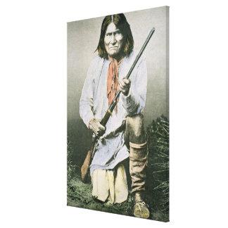 Geronimo (foto coloreada) impresión de lienzo