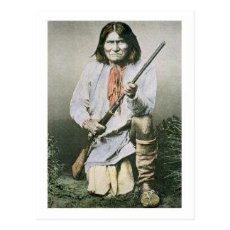 Geronimo (foto coloreada) tarjetas postales