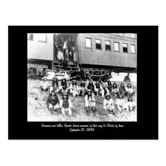 geronimo, Geronimo and fellow Apache Indian pri... Postcard