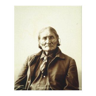 Geronimo (Guiyatle) Apache Native American Indian Canvas Print