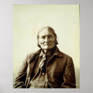 Geronimo (Guiyatle) Apache Native American Indian Posters