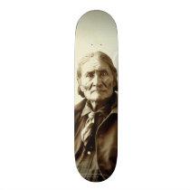 Geronimo (Guiyatle) Apache Native American Indian Skateboard