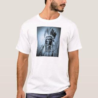 Geronimo in Head Dress Vintage Cyan