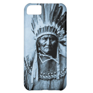 Geronimo in Head Dress Vintage Cyan iPhone 5C Cover