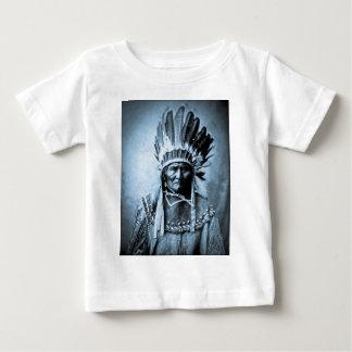 Geronimo in Head Dress Vintage Cyan T-shirts