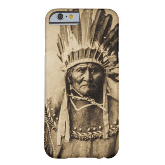 Geronimo in Head Dress Vintage Portrait Sepia Barely There iPhone 6 Case